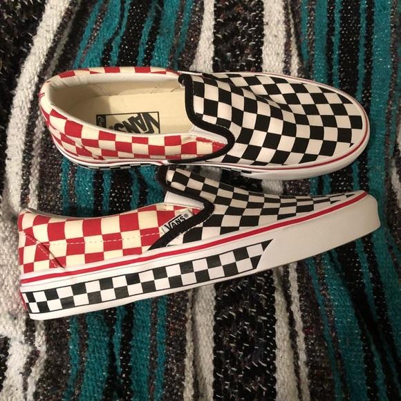 454d9ae8fe29d Custom checkerboard vans